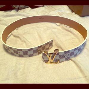 Damier Azure inspired belt - size 38 - READ BELOW